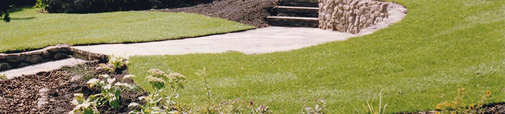 Turfed-lawn