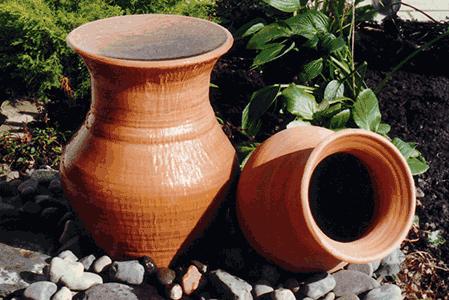Terracotta pot water feature