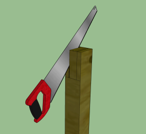 Pergola-post-with-saw